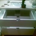 Muebles de baño lacado en blanco brillo