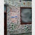 Mural de Hormigón y vidrio en exteriores II