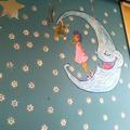 Mural Niña con Luna