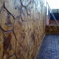 Muro con impreso vertical
