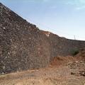Muro de contención visto