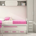 dormitorios juveniles con cama compacta.