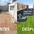 Instalación en terraza con muebles