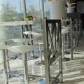 Mesas altas de acero