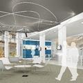 Oficina bancaria. Nova distribució i diseny interior.