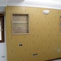 Papel vinilico en cabecero dormitorio
