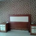 papel pintado africa en cabecera dormitorio