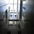 Patio interior Microcemento blanco brillo