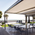 Pérgola con toldo veranda