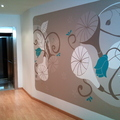 Pintura artísitca en vestíbulo