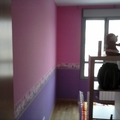 Pintura plastica + instalacion de cenefa decorativa