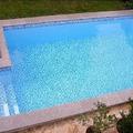 Piscina azul agua