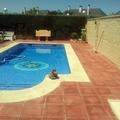 piscina,solado y muros de bloque