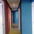 piso de gota  a liso y en colores (pasillo)