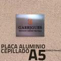 placa aluminio grabado