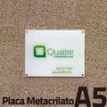 Placa de metraquilato A5