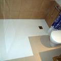 plat de dutxa amb resines epoxi