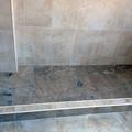 Plato de ducha hecho de obra