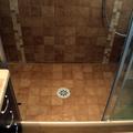 Plato de ducha realizado en obra.
