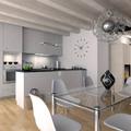 Proyecto interiorismo 3D de cocina comedor moderna