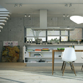 proyecto interiorismo salón - cocina moderna