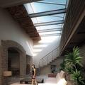 Proyecto y reforma de patio interior de vivienda en el campo.