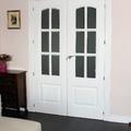 puerta comedor doble lacada con cristal