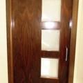 puerta corredera de nogal