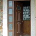 puerta de entrada chalet cudillero