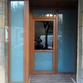 Puerta de entrada en PVC roble dorado