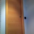 puerta en haya vaporizada veta atraves