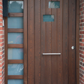 Puerta exterior de madera