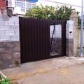puerta garaje corredera, imitacion madera