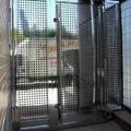 Puerta para comunidad chapa perforada inoxidable