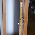 puerta pivotante acorazada
