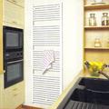 Radiador toallero en cocina .