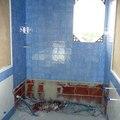 reforma de baño azul