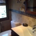 Reforma de baño rústico.