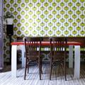Comedor con wallpaper