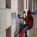 reparación de paño de piedra proyectada en hotel monika holidays