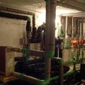 Sala de calderas de hotel rural con geotermia vertical