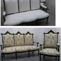 Sofá clásico reparado y tapizado