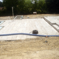 Solado de piscina con piedra valdepeñas
