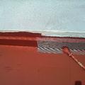 Solapes de fibra en cubierta de Torrellano.