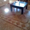 Suelo salón con cenefa realizada artesanal