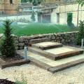 escalera jardín