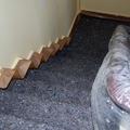 4. Tapamos todo el suelo y mobiliario