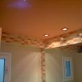 techo baño naranja