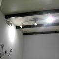 techo con vigas negras