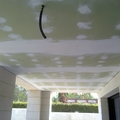 Techo pladur antihumedad terraza.